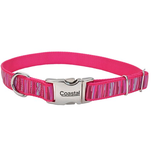 Ribbon Adjustable Dog Collar with Metal Buckle Product image