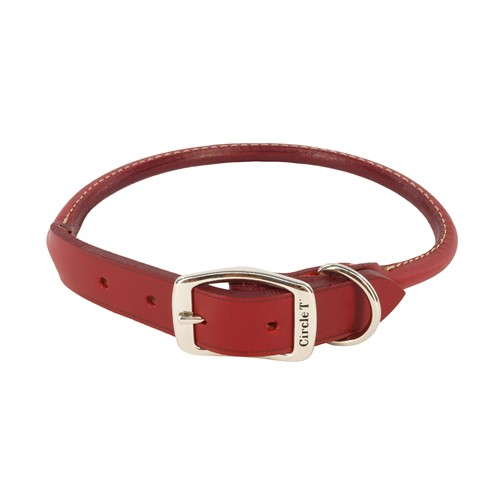 Circle T® Oak Tanned Leather Round Dog Collar Product image