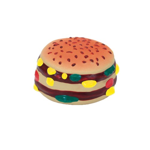 "Rascals® 2.5"" Latex Hamburger Dog Toy Product image"