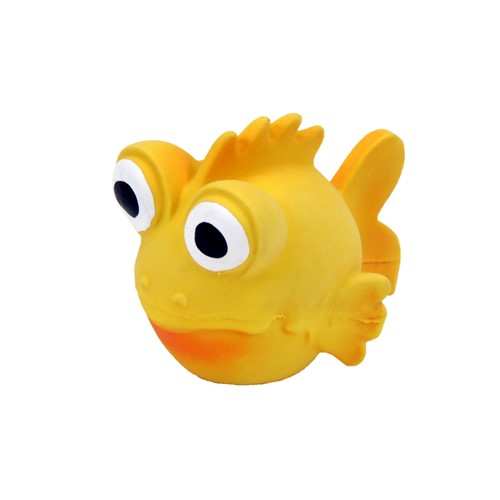 "Rascals® 3.5"" Latex Goldfish Dog Toy Product image"