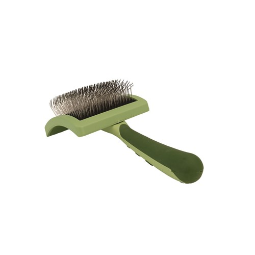 Safari® Curved Firm Slicker Brush with Coated Tips for Long Hair Product image