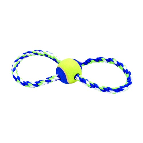 "Rascals® 12"" Figure 8 Rope Tug with Ball Dog Toy Product image"
