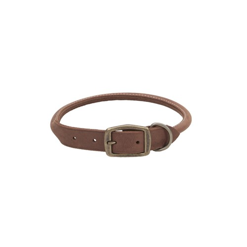 Circle T® Rustic Leather Round Dog Collar Product image