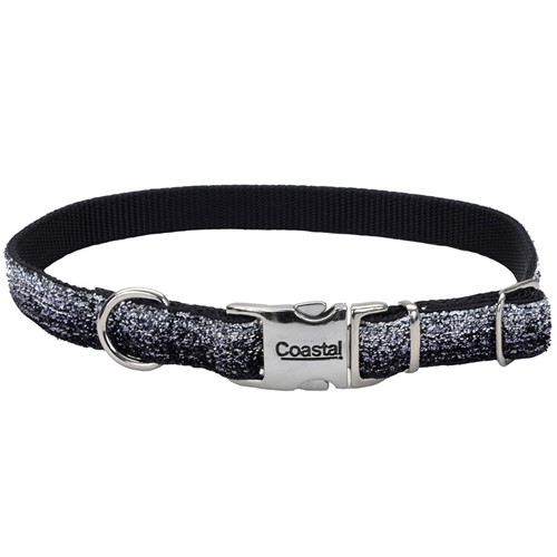 Sparkles Adjustable Dog Collar with Metal Buckle Product image