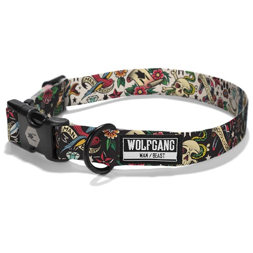 Wolfgang VintageBlack Adjustable Dog Collar Product image