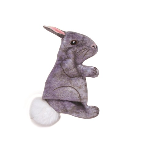 Turbo® Life-like Grey Rabbit Cat Toy Product image