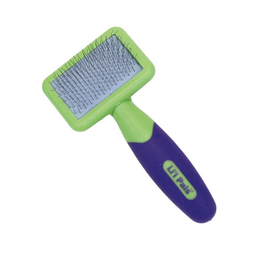 Li'l Pals® Dog Slicker Brush with Coated Tips Product image