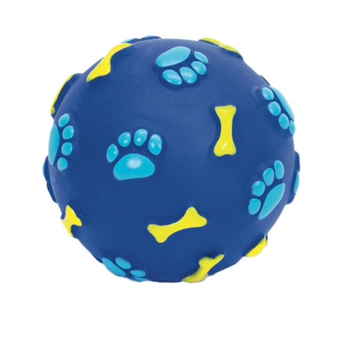 "Rascals® 2.5"" Vinyl Bone Print Ball Dog Toy Product image"