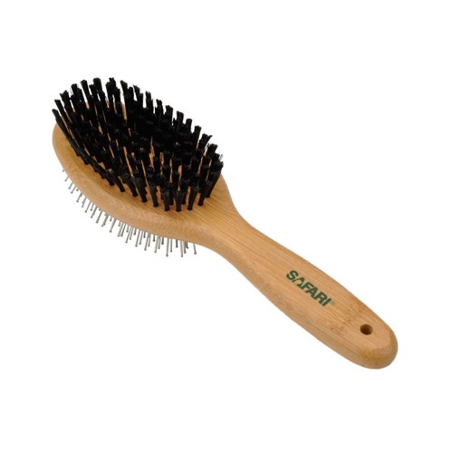 Safari® Pin and Bristle Combo Dog Brush with Bamboo Handle Product image