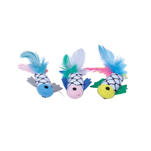 Turbo®  Fish with Feathers Bulk Cat Toy Bin Product image
