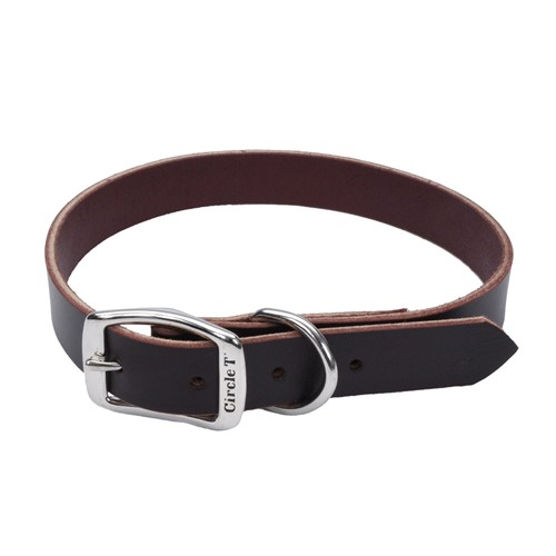 Circle T® Latigo Leather Town Dog Collar Product image