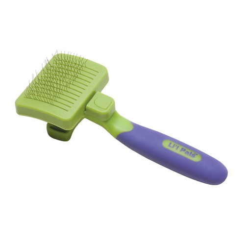 Li'l Pals® Self-Cleaning Dog Slicker Brush Product image