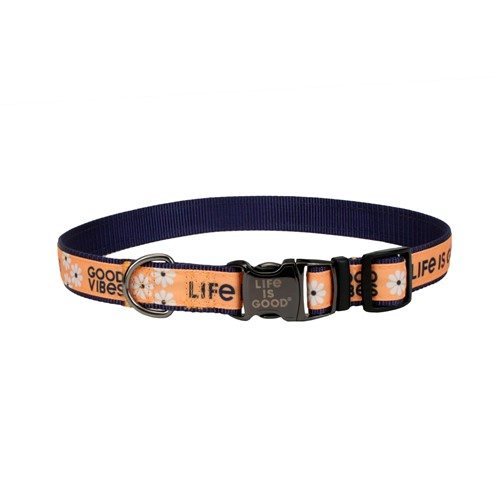 Life is Good® Canvas Overlay Dog Collar Product image