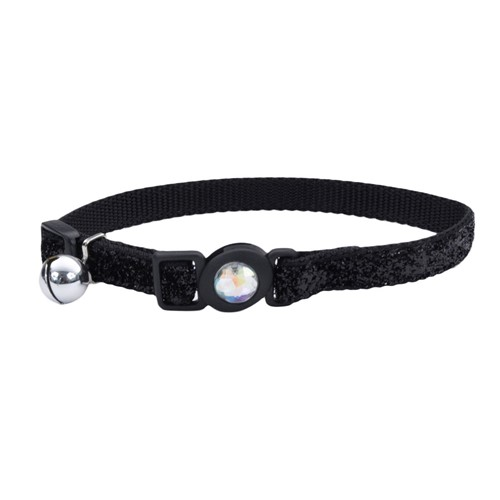 Safe Cat® Jeweled Buckle Adjustable Breakaway Cat Collar with Glitter Overlay Product image